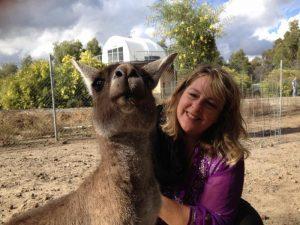 Deb & Kangaroo - Perth May 2015-1