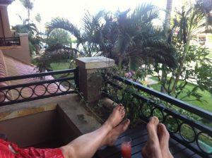 Scott in Bali feet up