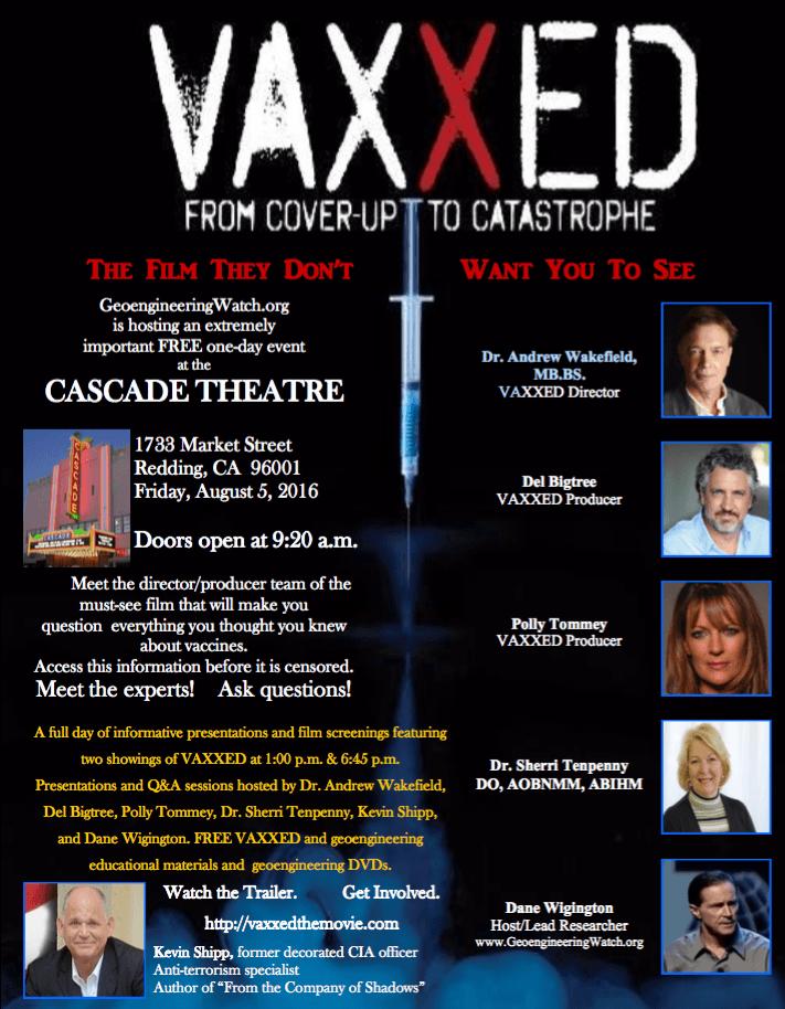 Vaxxed Redding CA Aug 2016